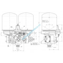 Regulator aer cu doua filtre