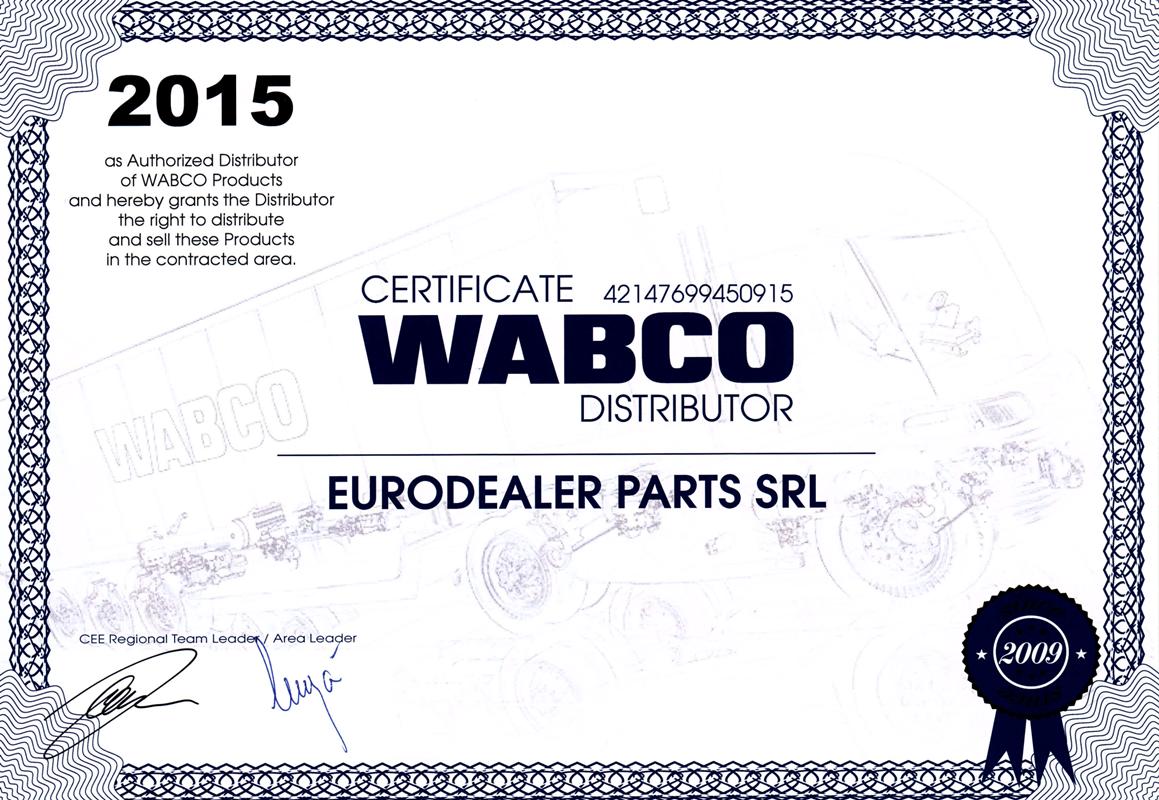 Certificat Wabco